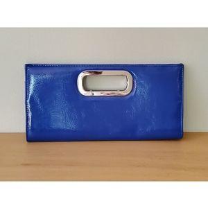 Vintage Royal Blue Envelope Clutch